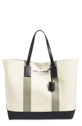 Saint Laurent 'Beach' Canvas Tote