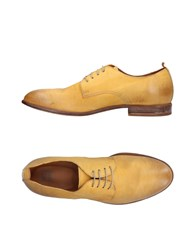 Moma Lace Up Shoes Ocher