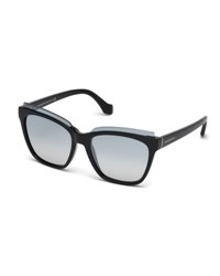 Balenciaga Injected Acetate Square Sunglasses C60