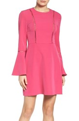 Charles Henry Women's Fit And Flare Dress Pink