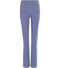 Altuzarra Serge Plaid Trousers Blue