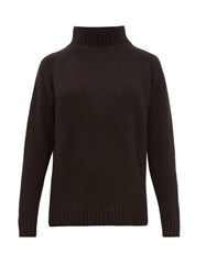 The Elder Statesman Highland High Neck Cashmere Sweater Black