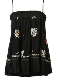 Derek Lam 10 Crosby Embroidered Skirt And Blouse Black