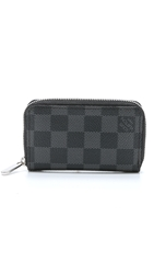 Wgaca Vintage Louis Vuitton Damier Zippy Coin Pouch Graphite