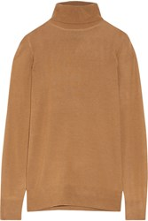 J.Crew Cashmere Turtleneck Sweater Camel