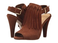 Michael Michael Kors Kassidy Open Toe Dark Caramel Sport Suede Shoes Brown