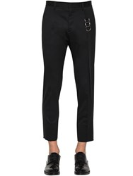 Dsquared Cool Guy Stretch Wool Pants W Tape Black White
