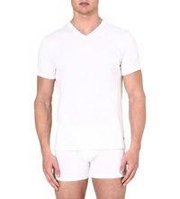 Ralph Lauren Ribbed Two Pack V Neck T Shirt White