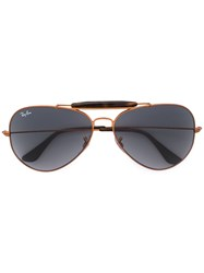 Ray Ban Outdoorsman Ii Sunglasses Men Metal 62 Nude Neutrals