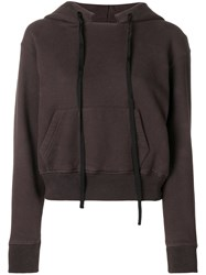 Unravel Project Cropped Hoodie Brown