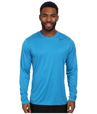 Nike Legend Dri Fit Poly L S Crew Top Light Blue Lacquer Blue Force Blue Force Men's Workout