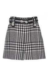 Zuhair Murad Tweed High Waisted Shorts Black White