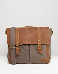 Forbes And Lewis Leather Wiltshire Satchel In Grey Grey