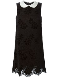 Dolce And Gabbana Peter Pan Collar Dress Black