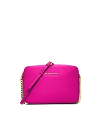 Michael Kors Jet Set Large Saffiano Leather Crossbody Raspberry