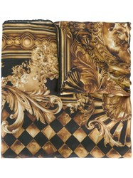 Balmain Baroque Effect Scarf Brown