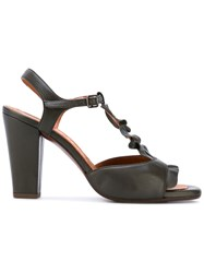 Chie Mihara Ruffle Trim Sandals Women Leather 38 Green