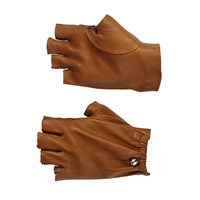 Les Cinq Fingerless Gloves Brown