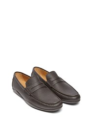 Harry's Of London Basel 4 Tumbled Calf Dark Brown Loafers