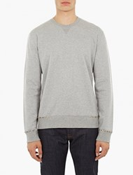Valentino Grey Studded Sweatshirt