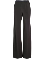 Peter Cohen High Rise Palazzo Trousers Black
