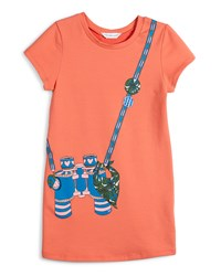 Little Marc Jacobs Short Sleeve Binocular Trompe L'oeil Dress