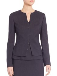 Boss Jafila Stretch Wool Blazer Navy