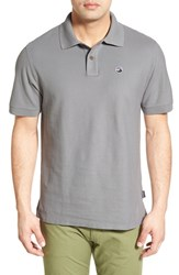 Men's Patagonia 'Fitz Roy Logo' Organic Cotton Pique Polo Feather Grey