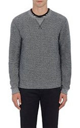Barneys New York Men's Cotton Blend French Terry Sweatshirt Grey Size