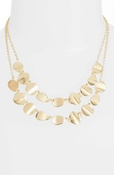 Halogen Dual Strand Necklace Gold
