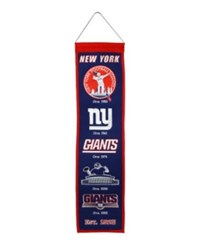 Winning Streak New York Giants Heritage Banner Blue Red