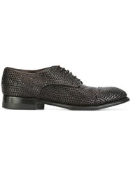 Silvano Sassetti Interlaced Leather Derbies Brown