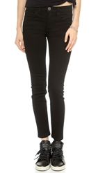 Current Elliott The High Waist Stiletto Jeans Jet Black