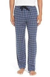 Nordstrom Men's Big And Tall Men's Shop Flannel Lounge Pants Grey Blue Plaid