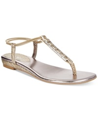 Style And Co. Edithe Embellished Flat Thong Sandals Women's Shoes