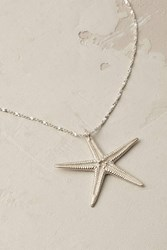 Catherine Weitzman Sterling Starfish Necklace Silver