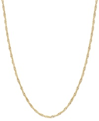 Macy's 14K Gold Necklace 30' Hollow Singapore Chain