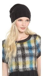 Plush Slouchy Knit Beanie Black