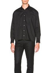 Robert Geller Photographer Button Up In Black