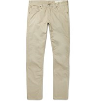Rag And Bone Washed Cotton Twill Chinos Neutrals