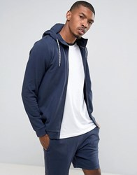 Tom Tailor Zip Through Hoodie Navy