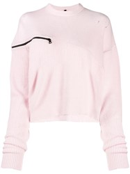 Unravel Project Loose Fit Jumper Pink
