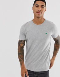 Abercrombie And Fitch Icon Logo T Shirt In Grey