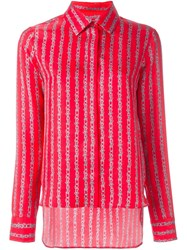 Carven Printed Shirt Red