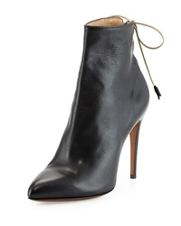 Valentina Carrano Marion Laced Back Leather Bootie