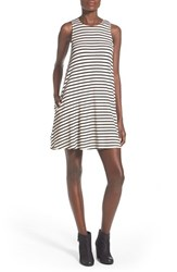 Women's Socialite High Neck Dress Ivory Black