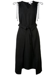 Derek Lam 10 Crosby Wrap Front Dress Black