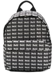 Mcq By Alexander Mcqueen Repeat Logo Backpack Black