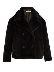 Golden Goose Kate Faux Fur Coat Dark Grey