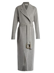 Acne Studios Lova Double Wool Blend Coat Grey